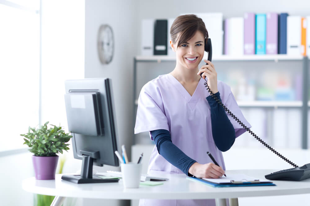 How To Be A Good Medical Receptionist Desk Organization Tips